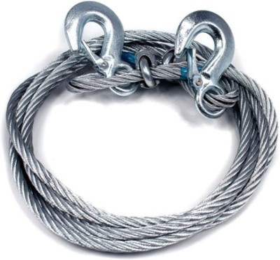 Kozdiko Car Auto Full Steel Tow Rope 2000kgs 6mm Heavy Duty Ton 4 Mtr For Maruti Old Swift 4 m Towing Cable