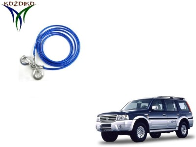 Kozdiko Heavy Duty 7000Kgs 12MM 4Mtrs for Ford Endeavour 4 m Towing Cable