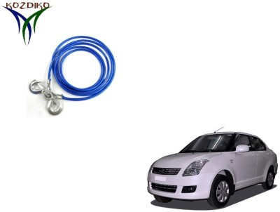 Kozdiko Heavy Duty 7000 kgs 12 MM 4Mtr Tow Rope for Maruti Old Dzire 4 m Towing Cable(Steel, 7000 kg Pull Capacity)
