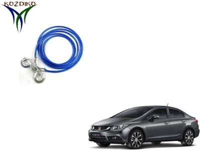 Kozdiko Heavy Duty 7000 Kgs 12MM 4Mtrs for Honda Civic 4 m Towing Cable