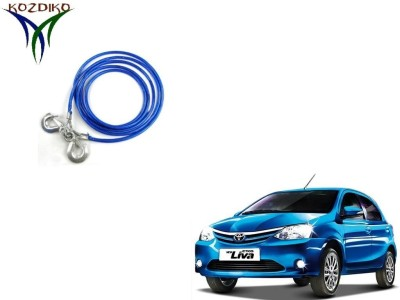 Kozdiko Heavy Duty 7000 Kgs 12MM 4mtrs for Toyota Etios Liva 4 m Towing Cable(Steel, 7000 kg Pull Capacity)