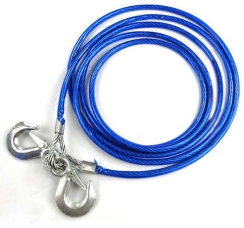 Kozdiko Blue Steel 6000 kgs 4M 10 MM For - Hyundai Creta 4 m Towing Cable(Steel, 6000 kg Pull Capacity)
