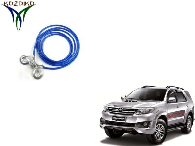 Kozdiko Heavy Duty 7000 Kgs 12MM 4Mtrs for Toyota Fortuner 4 m Towing Cable(Steel, 7000 kg Pull Capacity)