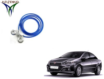 Kozdiko Heavy Duty 7000 kgs 12 MM 4Mtr Tow Rope for Fiat Linea 4 m Towing Cable(Steel, 7000 kg Pull Capacity)