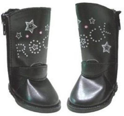 American Fashion World Clothing & Shoes Toy Accessory(Clothing, Rocker, Shoes, American, Similar Black)