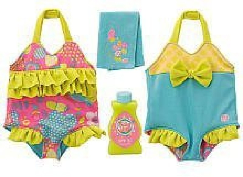 Funrise Clothing & Shoes Toy Accessory(Baby, Alive, Reversible, Outfit, Poolside Multicolor)