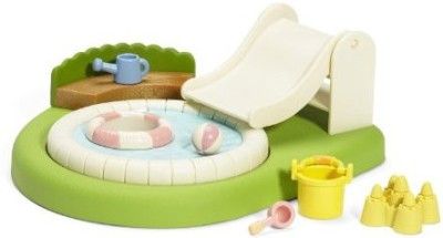 Calico Critters Sandboxes & Accessories Toy Accessory(Calico, Critters, Baby, Pool, Sandbox Beige)