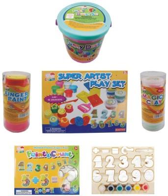 Indo Super clay Art 8 i 1 Toy Accessory(Super clay Art 8 i 1 Multicolor)