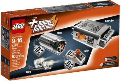 Lego Medium Motor, Battery Box, Light Cable, switch, Additional Pieces Toy Accessory