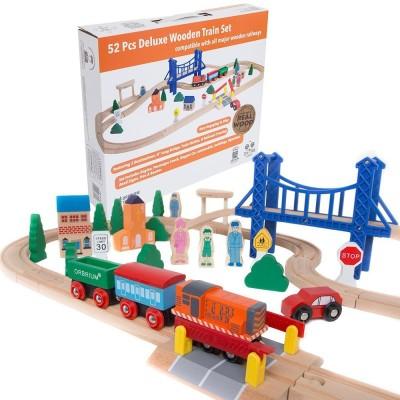 Orbrium Toys Wooden Train Set Toy Accessory