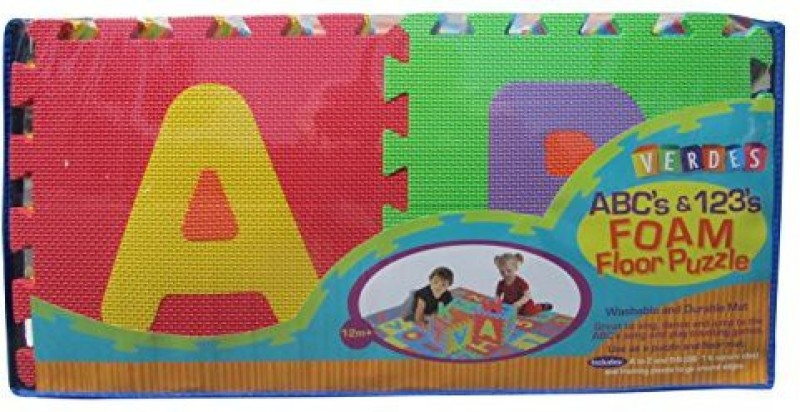 Verdes Puzzle Play Mats Toy Accessory(Verdes, Alphabet, Numbers, Puzzle, Playmat Multicolor)