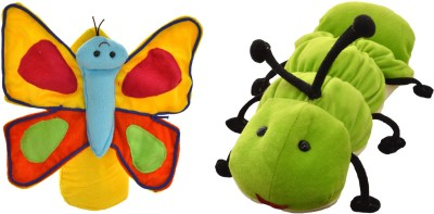 Cuddly Toys Caterpillar and Butterfly Story telling Educational Hand Puppet Hand Puppets