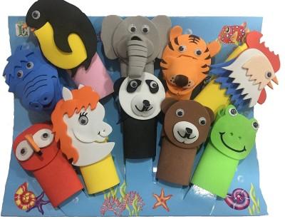 Infinxt Cute Animal Design Set of 10 Finger Puppets