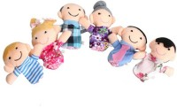 Kuhu Creations Family Finger Puppets(Pack of 6)