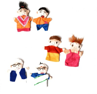 Aimedu Toy Hand Puppets Family Set Of 6 Hand Puppets