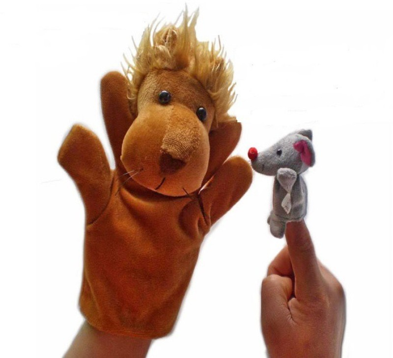 Kuhu Creations Famous Lion & Rat Story Telling Hand Puppets