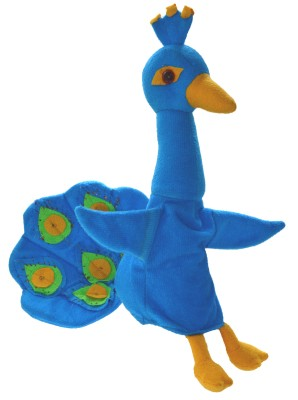 Cuddly Toys Peacock Hand Puppets