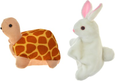 Cuddly Toys The Rabbit and tortoise Story telling Hand Puppet Hand Puppets