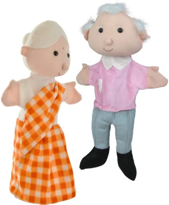 Cuddly Toys Grandfather and Grandmother Hand Puppets