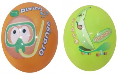 Boing Scented Ball Pack Of 2 Orenge & Banana With A Attractive Fragrance Girls, Boys Softball