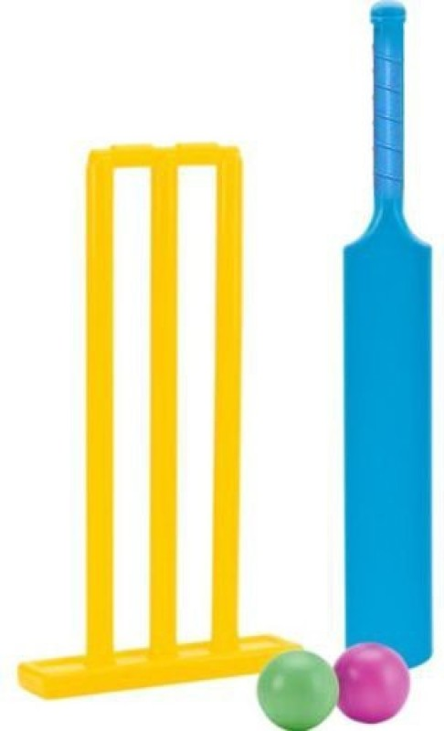 Shrih Plastic Bat Balls And Stumps Cricket Kit
