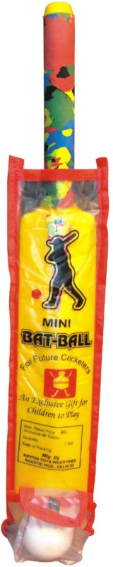 Nippon Mini Bat Ball (Pouch) Cricket