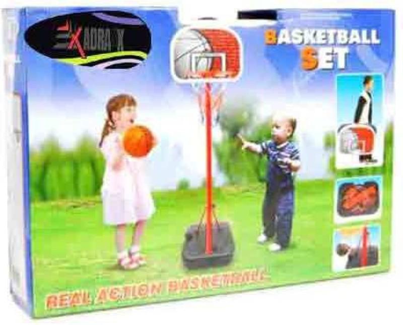 Adraxx Net And Ball in Hard Case Basketball