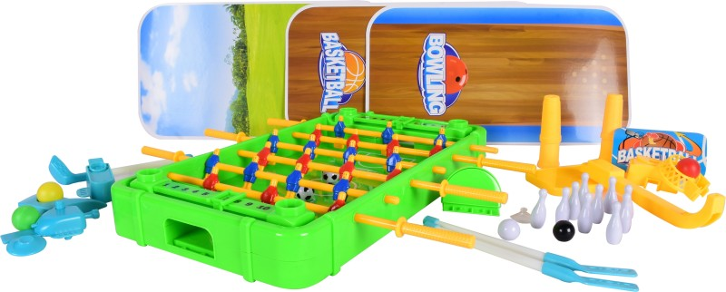 Planet of Toys 4 in 1 Soccer Game, Golf, Ice Hockey, Bowling Football Kit