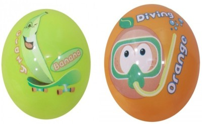 Boing Scented Ball Pack Of 2 Banana & Orenge With A Attractive Fragrance Girls, Boys Softball
