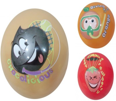 Boing Scented Ball Pack Of 3 Chocolicious, Orenge & Red With A Attractive Fragrance Girls, Boys Softball