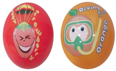 Boing Scented Ball Pack Of 2 Strawberry & Orange With A Attractive Fragrance Girls, Boys Softball