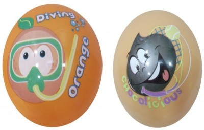 Boing Scented Ball Pack Of 2 Orenge & Chocolicious With A Attractive Fragrance Girls, Boys Softball