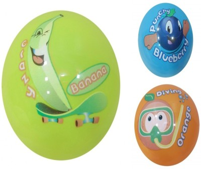 Boing Scented Ball Pack Of 3 Banana, Blueberry & Orenge With A Attractive Fragrance Girls, Boys Softball
