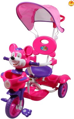 BAYBEE Mickey Trolly Cycle with Canopy and Parent Control Tricycle