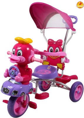 BAYBEE DonaldDuck Trolly Cycle with Canopy and Parent Control Tricycle