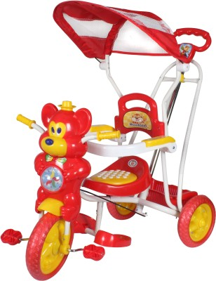 HLX-NMC KIDS FUN MOUSE TRICYCLE CUM ROCKER RED/YELLOW Tricycle