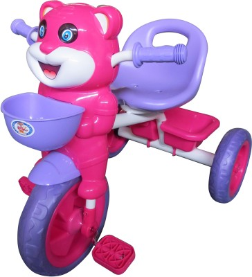 HLX-NMC HAPPY TIGER KIDS TRICYCLE - PURPLE/PINK(EASY ASSEMBLY EDITION) Tricycle
