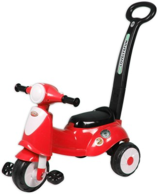 Ez Playmates Italian Scooter Kids Tricycle With Navigator Red Tricycle