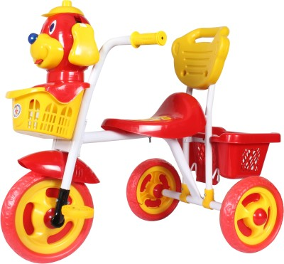 HLX-NMC Kids Scooby Puppy Tricycle Red/Yellow Tricycle(Red)