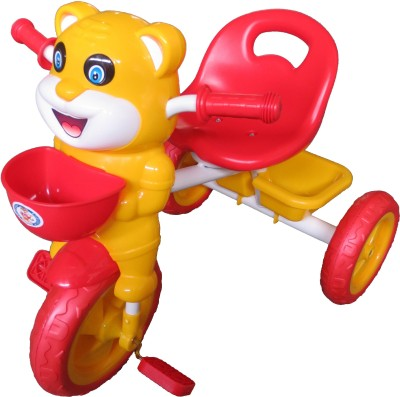 HLX-NMC HAPPY TIGER KIDS TRICYCLE - RED/YELLOW(EASY ASSEMBLY EDITION) Tricycle