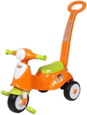 Ez, Playmates italian scooter kids tricycle with navigator orange Tricycle