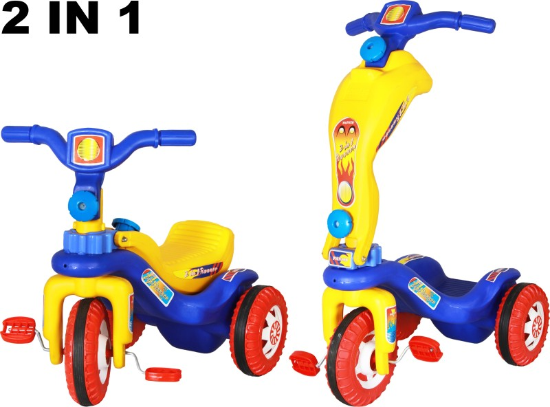 Playtool Cycle Scooty 2 in 1 Tricycle(Blue, Red, Yellow)