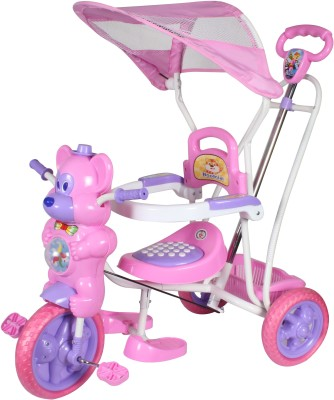 HLX-NMC KIDS FUN MOUSE TRICYCLE CUM ROCKER PINK/PURPLE Tricycle(Pink)