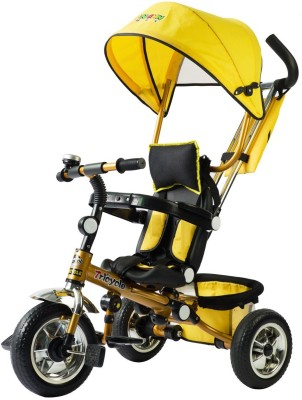Toys Bhoomi 4in1 Folding Stroller with Umbrella Canopy Tricycle
