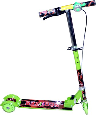 scrazy 3 wheel Height Adjustabe Folding Scooter with break & bell