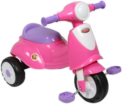 Ez Playmates Italian Scooter Kids Tricycle Pink Tricycle