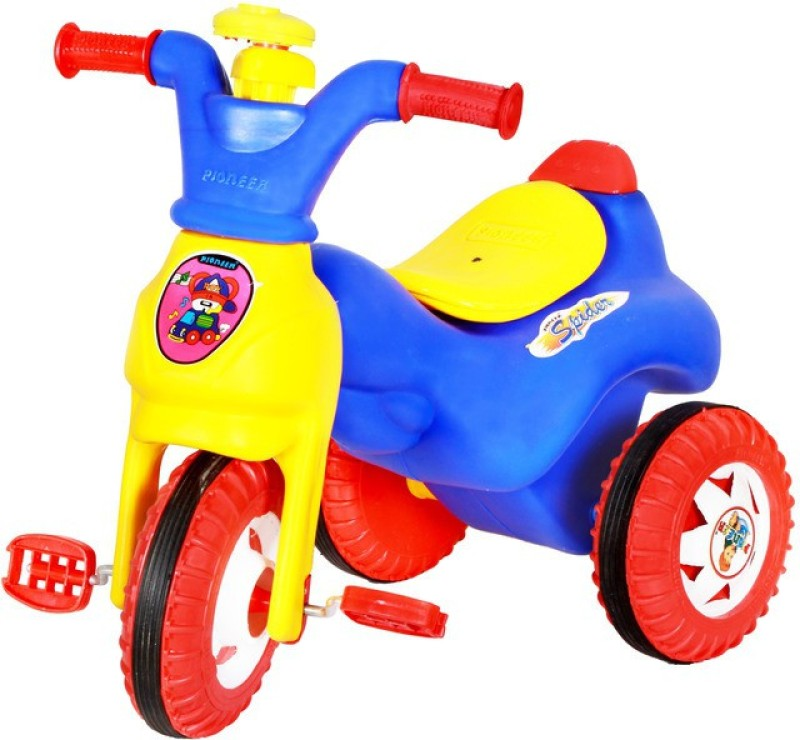 Playtool Spider Baby Tricycle(Blue, Red, Yellow)
