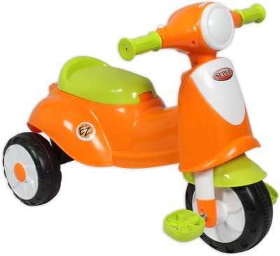 EZ, PLAYMATES Italian Scooter Kids Tricycle Orange Tricycle
