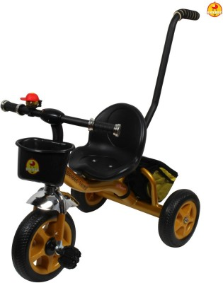 BAYBEE Kiddo Tricycle with Parent Control (Golden) Tricycle