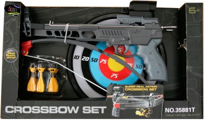 Adraxx Pistol Crossbow Toy Archery Set With Safe Dart(Black)